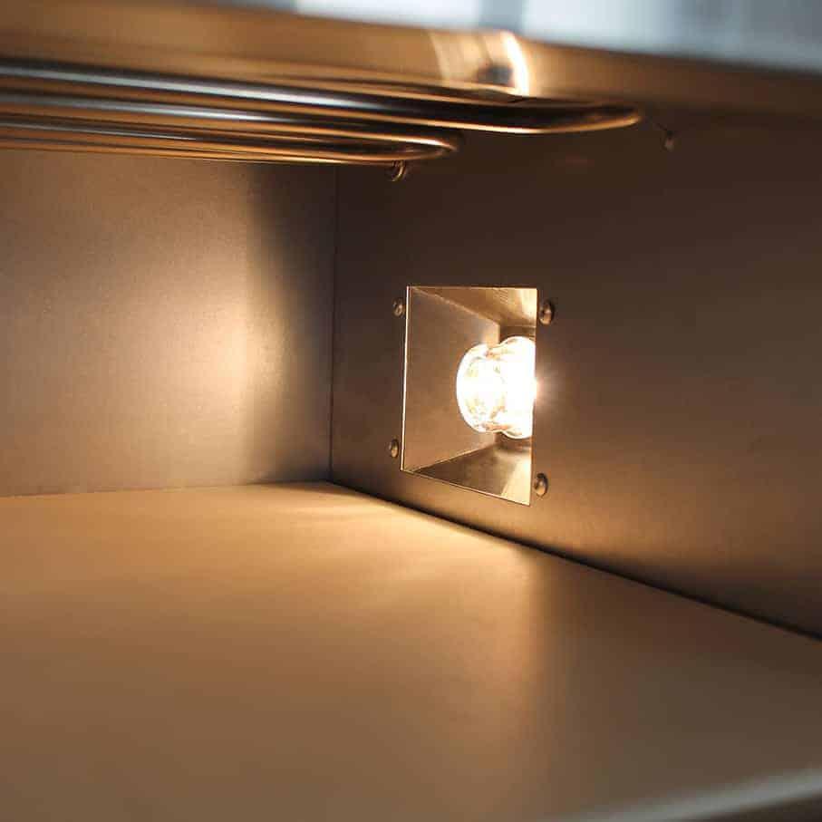 Pizzaofen / Backofen elektrisch Beeketal BPO33-1 - Leuchte und Pizzastein